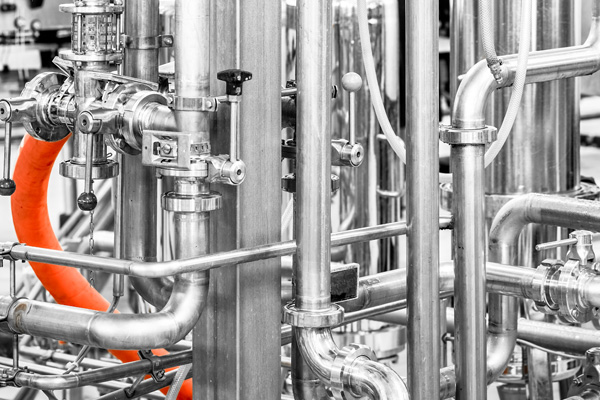 In-line mixing and carbonating systems, food systems