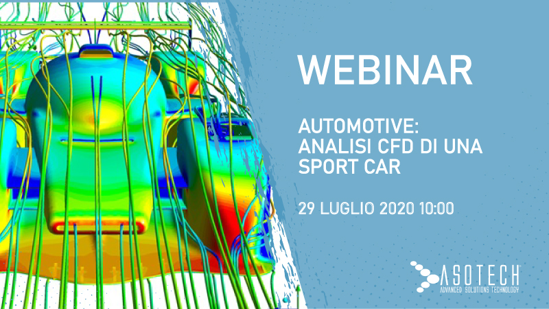 WEBINAR: Automotive, analisi CFD di una sport car