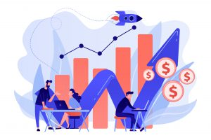 Sales growth concept vector illustration.