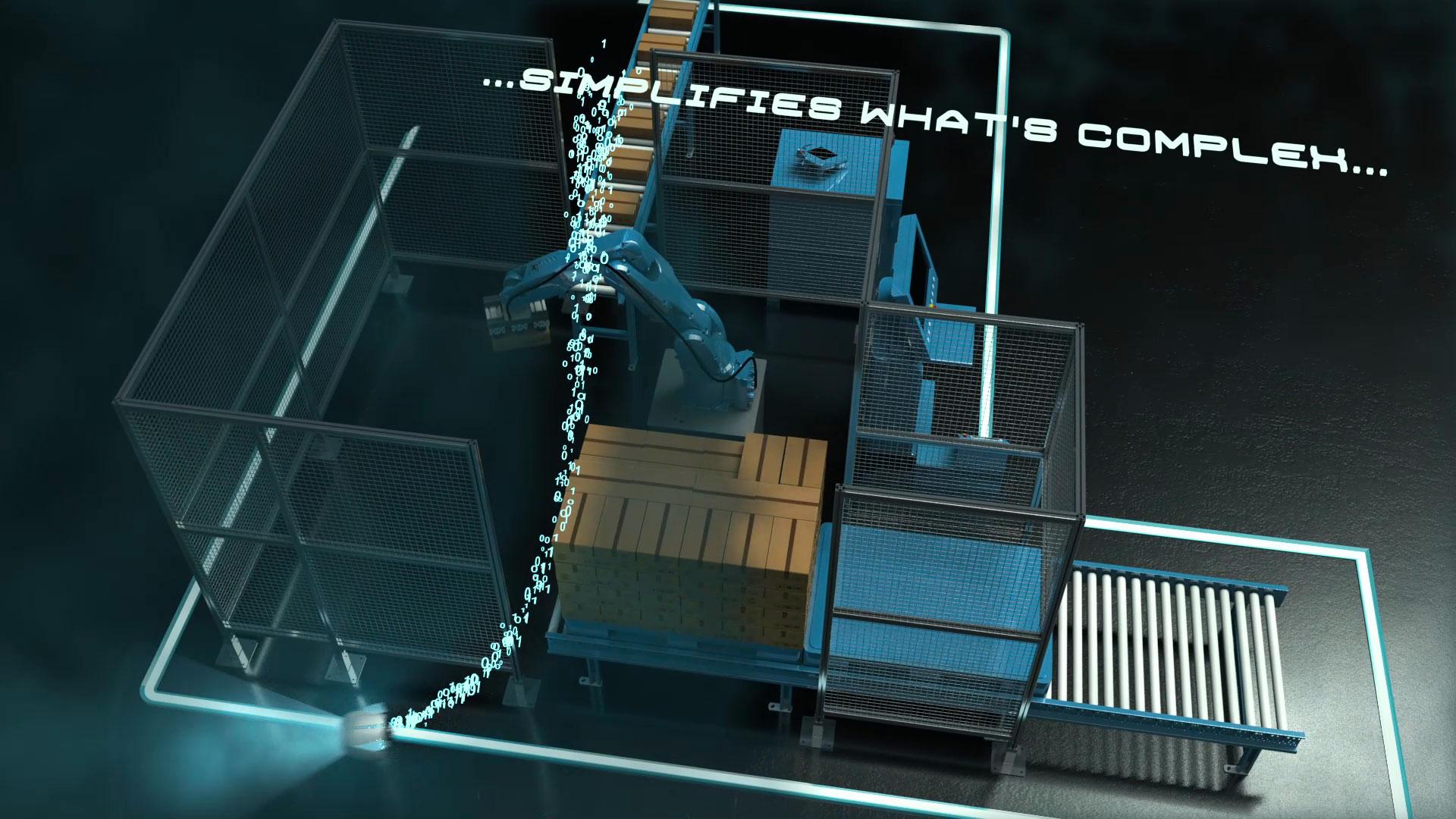 Video 3D teaser commerciale di prodotto per Easyrobot