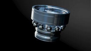 Animazione 3D di componenti industriali – Cuscinetto a sfere