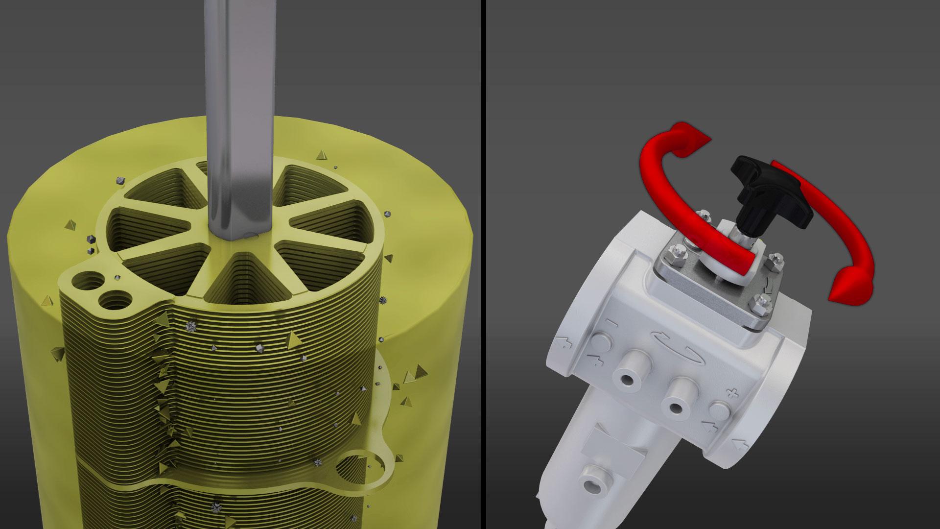 Animazione 3D per il nuovo filtro industriale Plate Gap di Filtrec