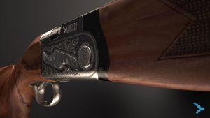 Video 3D commerciale di fucile da caccia