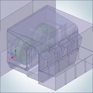 Anteprima del case study relativo all'analisi bifase su torre di raffreddamento mediante Simulazione Fluidodinamica CFD