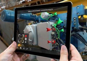 Interaction Design - tablet e software di realtà aumentata per analizzare macchinari meccanici