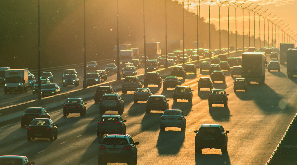 Fotografia di strada trafficata